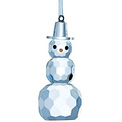 Galway Living - Crystal 'Hanging' Christmas Snowman ornament