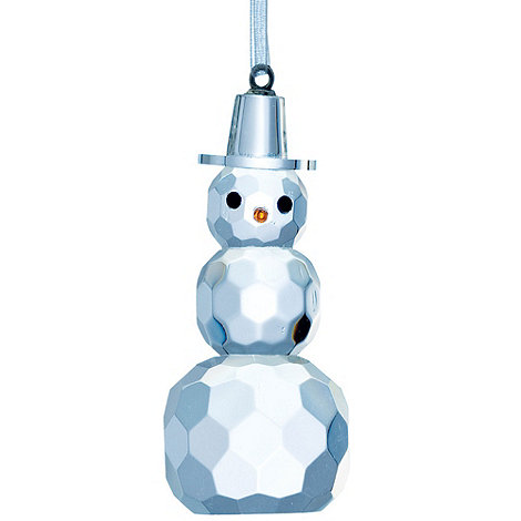 Galway Living - Crystal +Hanging+ Christmas Snowman ornament