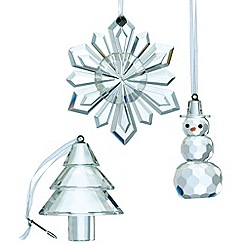 Galway Living - Crystal 'Hanging' Christmas ornaments set of three
