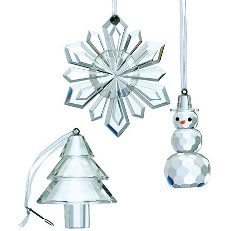 Galway Living - Crystal +Hanging+ Christmas ornaments set of three