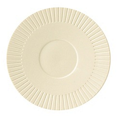 Belleek Living - Ivory 'Lines' Saucer