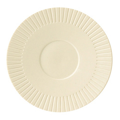 Belleek Living - Ivory +Lines+ Saucer