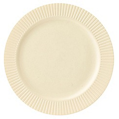 Belleek Living - Ivory 'Lines' Dessert Plate