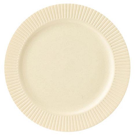 Belleek Living - Ivory +Lines+ Dessert Plate