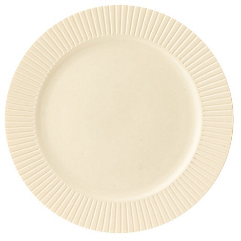 Belleek Living - Ivory +Lines+ Dinner Plate