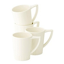 Belleek Living - Ivory Lines Set Of Four Mugs