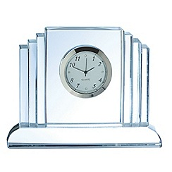Galway Living - Crystal 'Jazz' Mantel Clock