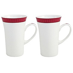 Belleek Living - White Madison pair of Latte mugs