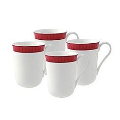 Aynsley China - White Madison four mugs box set.
