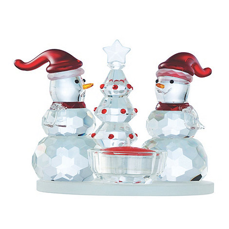 Galway Living - Crystal +Magical+ Snowman single Christmas votive