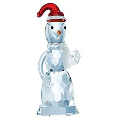 Belleek Living - Multicoloured crystal snowman ornament.