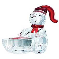 Belleek Living - Multicoloured crystal Christmas bear votive.