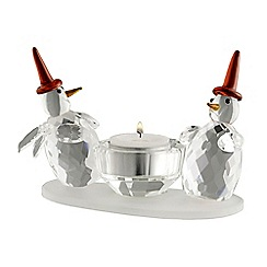 Galway Crystal - Double Snowman votive