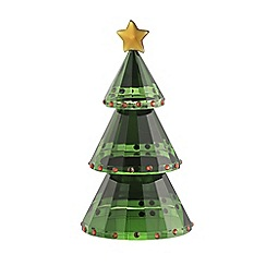 Galway Crystal - Green Christmas tree figurine