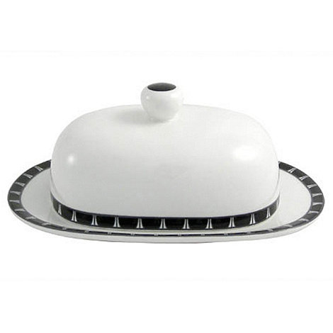 Aynsley China - White +Mozart+ Butter Dish