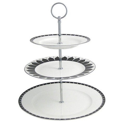 Aynsley China - White +Mozart+ Cake Stand