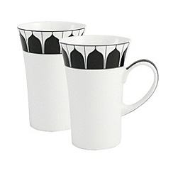 Belleek Living - White Mozart pair of latte mugs