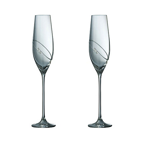 Galway Crystal - Galway Crystal Rings Champagne Flute (Pair)