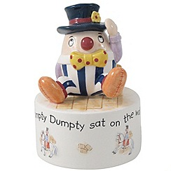 Aynsley China - Ivory 'Nursery' Humpty Dumpty musical box