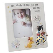 Ivory 'Nursery' Cat and Fiddle photo frame