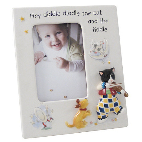 Aynsley China - Ivory +Nursery+ Cat and Fiddle photo frame