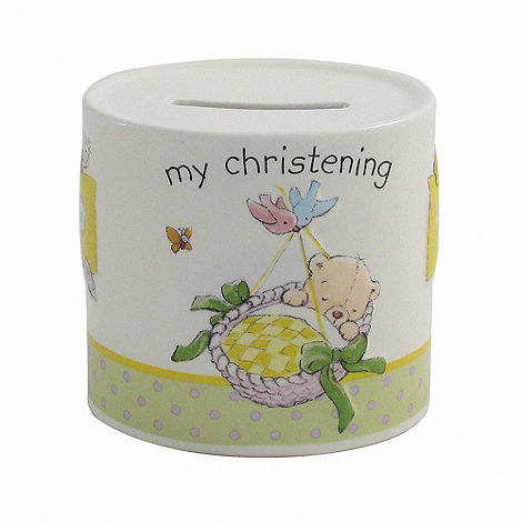 Aynsley China - Ivory +My Christening+ Moneybox