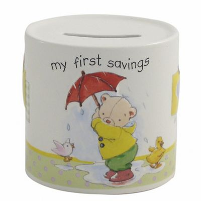 Aynsley China Ivory ´My First´ Savings Moneybox - . -