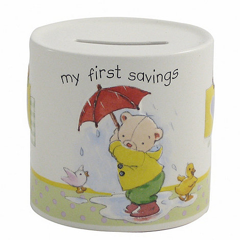 Aynsley China - Ivory +My First+ Savings Moneybox