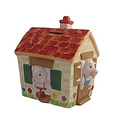 Aynsley China - Three Little Pigs Moneybox