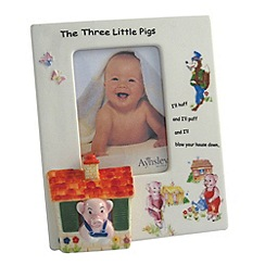 Aynsley China - Three Little Pigs Photo Frame