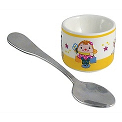 Aynsley China - Little Miss Humpty Egg Cup and Spoon