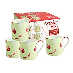 Aynsley China - Wild Flowers set of 4 mugs