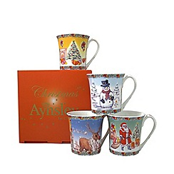 Aynsley China - Christmas mugs set of four