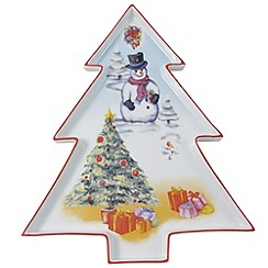 Aynsley China - Christmas tree platter