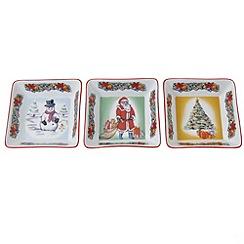 Aynsley China - Three dish Christmas set