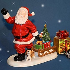 Aynsley China - Santa with puppy Christmas ornament
