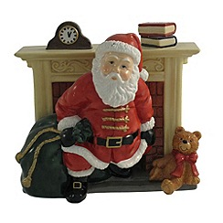 Aynsley China - Santa and fireplace figurine