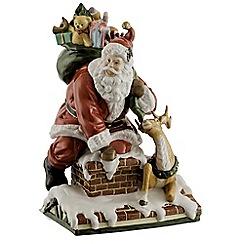 Aynsley China - Santa on Roof Figurine
