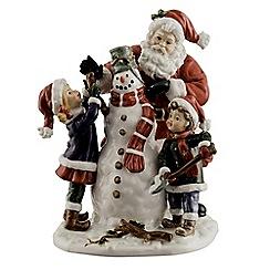 Aynsley China - Santa with Snowman Figurine