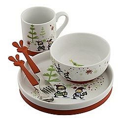 Aynsley China - Santa's Little Helper 5 Piece Nursery Set