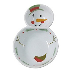 Aynsley China - Multicoloured Christmas Snowman dipping bowl