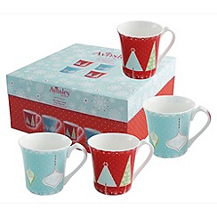 Aynsley China - Let it snow 4 mug set