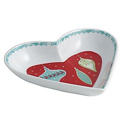 Aynsley China - Let it snow heart dish