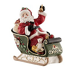 Aynsley China - Santa on sleigh musical figurine