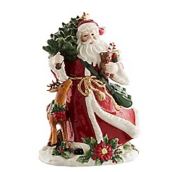 Aynsley China - Santa and Reindeer large figurine
