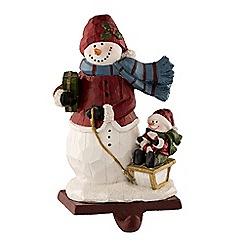 Aynsley China - Wool hat snowman stocking holder