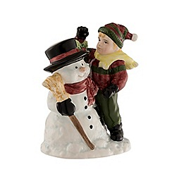 Aynsley China - Snowman and boy figurine