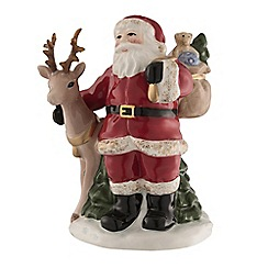 Aynsley China - Santa and reindeer small figurine