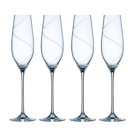 Galway Living - Pure set of four champagne flutes