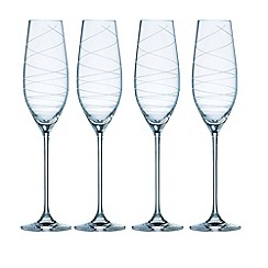 Galway Living - Spiral set of four champagne flutes